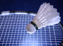 Raquette de badminton et shuttlecock Images libres de droits