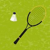 Raquette de badminton et shuttlecock Illustration de vecteur Photographie stock