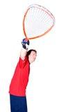 raquette de joueur de bille Images stock
