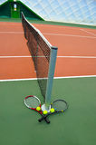 Raquette de Tenis Photos libres de droits