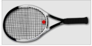 Raquette de tennis images libres de droits