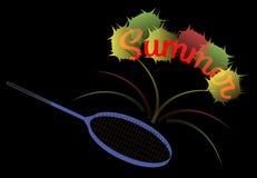 Raquette de tennis d'été Image stock