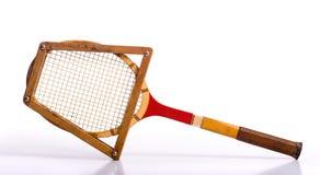Raquette de tennis de cru images stock