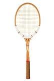Raquette de tennis de vintage Photos libres de droits