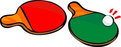 Raquette du ping-pong deux Photos libres de droits