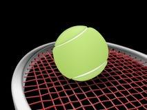 Raquette et bille de tennis illustration stock