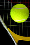 Raquette et bille de tennis Photo libre de droits