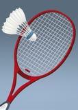 Raquette pour le badminton Photographie stock libre de droits