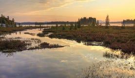 Raquette See-Einlass HDR Stockbild