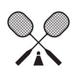 Raquettes de badminton et Volant Photo libre de droits