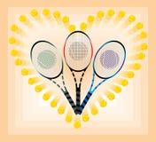 Raquettes de tennis Images stock