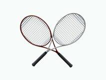 Raquettes de tennis Images libres de droits