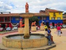 Raquira Colombia Arkivbilder