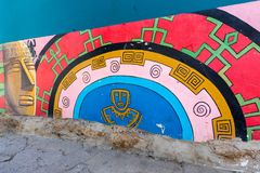 Raquira Kolumbia ściany dekoracje Zdjęcia Stock