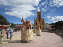 Raquira park, Colombia Stock Photo