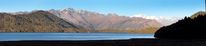 Rara Daha或Mahendra Tal湖- Rara艰苦跋涉-尼泊尔 免版税库存图片