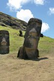 Raraku de Rano, île de Pâques photos stock