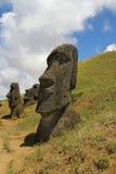 Raraku di Rano, isola di pasqua Fotografia Stock Libera da Diritti