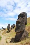 raraku rano карьера острова пасхи Стоковые Фото