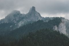 Rarau Mountains - Lady`s Cliffs. Close-up of Lady`s Cliffs in Raru Mountains Royalty Free Stock Photo