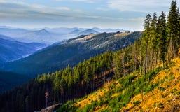 Raraul zmierzchu halny krajobraz Fotografia Royalty Free
