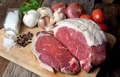 Rare Angus beef cut and ready for cooking Stock Photography