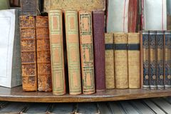 Rare antique books Stock Images
