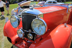 Rare Antique british car front detail Royalty Free Stock Photos