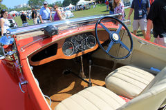 Rare Antique british car interior Royalty Free Stock Photos