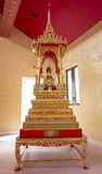 Rare Artifact In Buddhist Temple. A rare, bejeweled, decorated Buddhist artifact at Wat Mongkolrata Thai Buddhist Temple Stock Photography