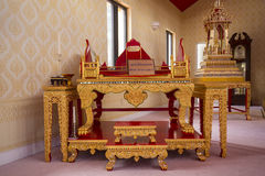 Rare Artifacts In Buddhist Temple Stock Photo