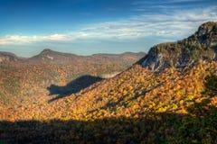 Rare autumn bear shadow in Blue Ridge Mountains. During the fall foliage Stock Image