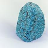 Azurite Eilat Stone. Isolated on a  white background. Rare Azurite Eilat Stone Gemstone from Israel. Stock Image stock photos