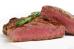Rare Beef Rib-Eye Steak stock images