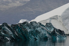 Rare blue ice - Scoresbysund Fjord - Greenland Royalty Free Stock Photography