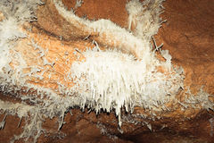 Rare calcite crystals in Crystal Cave from Farcu Mine Stock Photos