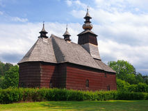 A rare church in Stara Lubovna, Spis, Slovakia Stock Images