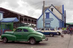 Rare Classic Cars parked in Cuba Royalty Free Stock Images