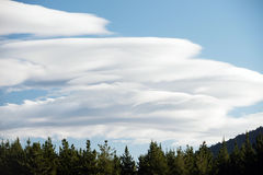 Rare clouds on blue sky Royalty Free Stock Photography