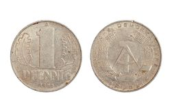 Rare coin of democratic Germany republic Stock Photography