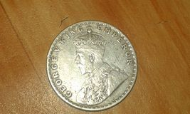 Rare coin of indian empire during british rule Stock Images
