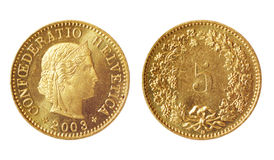 Rare coin of switzerland Stock Images