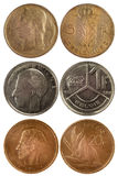 Rare coins of belgium Royalty Free Stock Photography