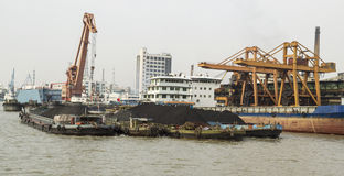 Rare Earth Soil on Ships Royalty Free Stock Images