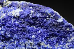 Rare Electric Blue Hauyne Mineral Specimen Royalty Free Stock Photo