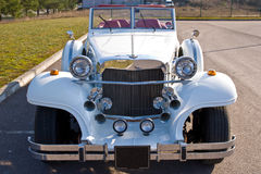 Rare Excalibur car. A view of the front of a rare Excalibur convertible collector's car in mint condition.  Clipping path available Stock Photos