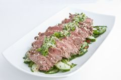 Rare Fillet Steak Salad Royalty Free Stock Photo