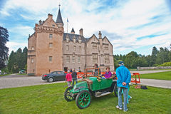 Rare French car at Brodie Castle. A rare French car of 1914 vintage Clement Bayard powered by steam seen at Brodie Castle after the Historic Wheels Club meeting Stock Images