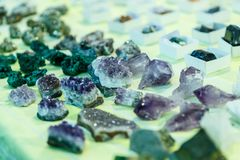 Rare gems and minerals Royalty Free Stock Photos