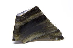 Rare Green Obsidian Royalty Free Stock Images